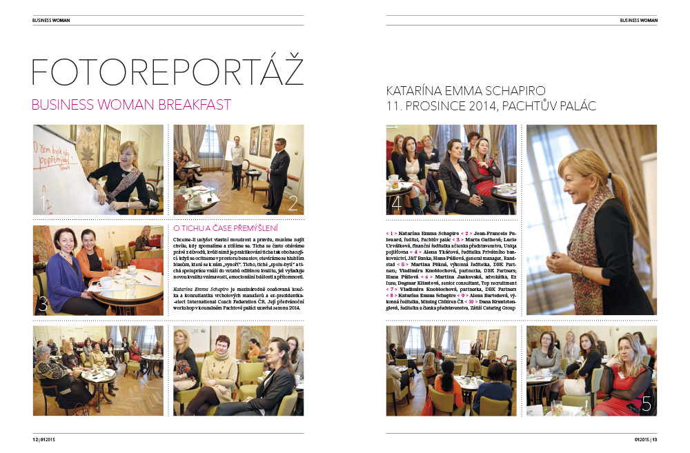 Fotoreport Business Woman Breakfast: Katarína Emma Schapiro<