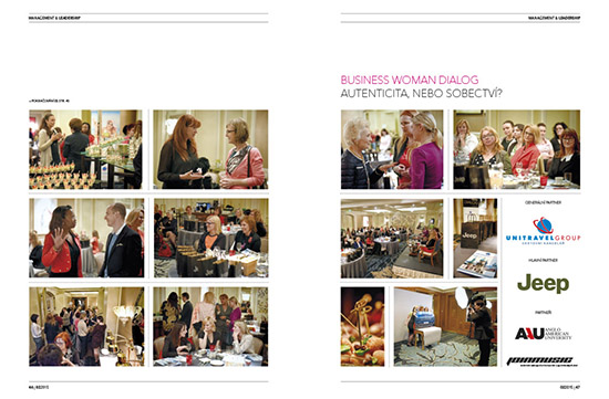Photoreportage Business Woman Dialog: Authenticity or selfishness?