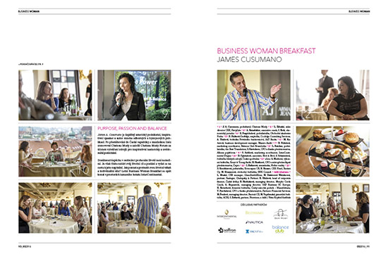 Fotoreport Business Woman Breakfast: James A. Cusumano