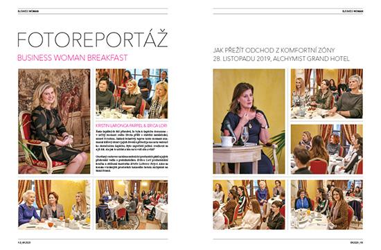 Fotoreport Business Woman Breakfast: Kristin LaRonca Parpel & Erika Lori